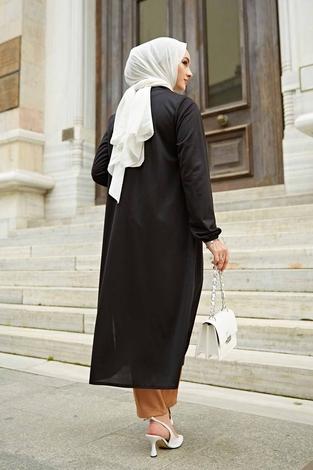 Klasik İkili Takım 100MD-10348 Siyah-Camel - Thumbnail