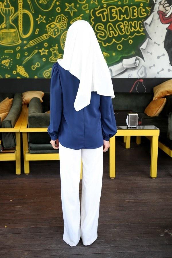 Kolları Büzgülü Gömlek MDP.5170-9
