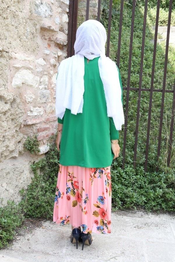 Kolları Piliseli Tunik Bluz 5319-2