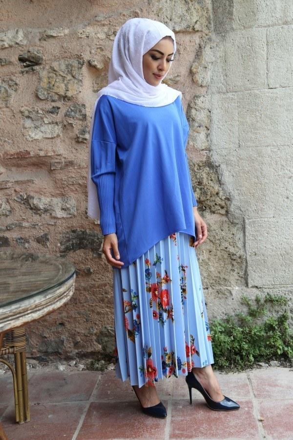 Kolları Piliseli Tunik Bluz 5319-3