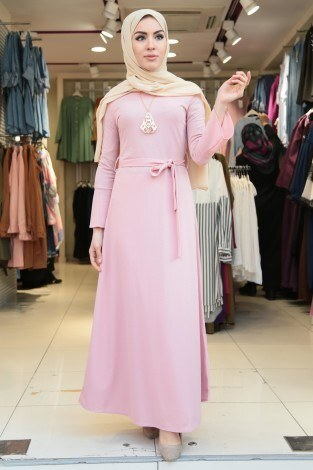 - Kolları Volanlı Elbise-Seminare 5050-4