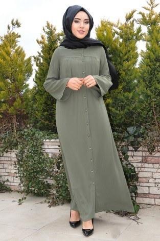 - Kolları Volenli Ferace Elbise 5380-1