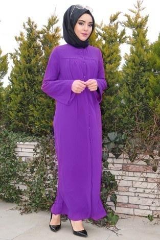 - Kolları Volenli Ferace Elbise 5380-2