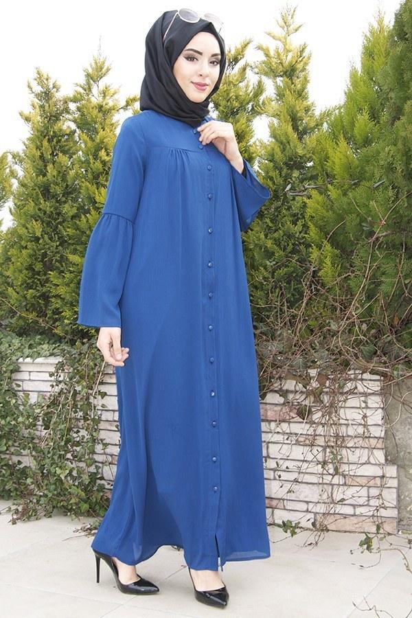 Kolları Volenli Ferace Elbise 5380-3