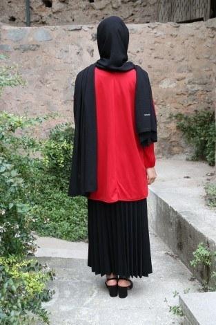Kolları Piliseli Tunik Bluz 5319-1 - Thumbnail