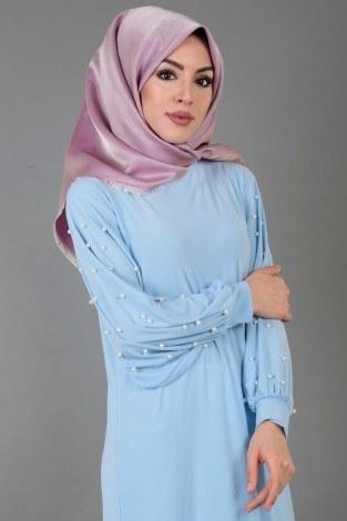 - Kolu incili tesettür elbise 34509-7 (1)