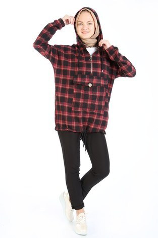 Kapişonlu Oduncu Gömleği 51133-03 - Thumbnail