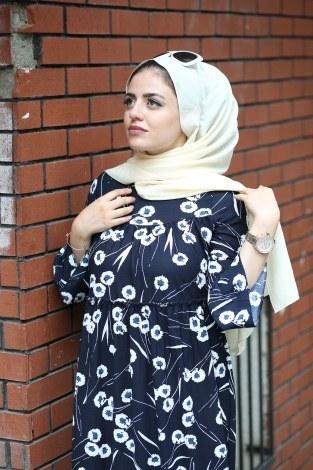 - Krep Fırfırlı Elbise 3085-24 (1)