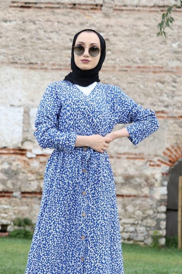Kruvaze Yaka Elbise 3128-08