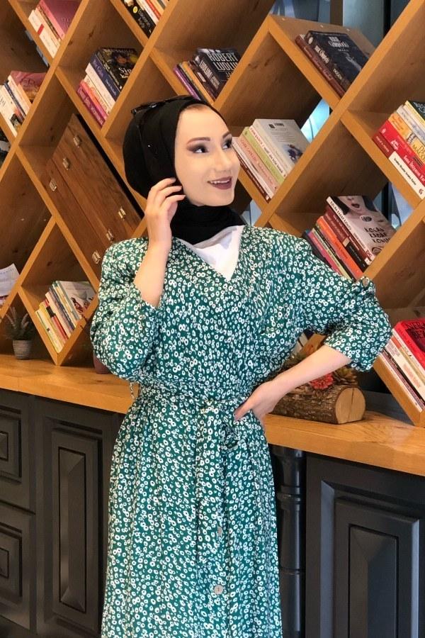 Kruvaze Yaka Elbise 3128-06