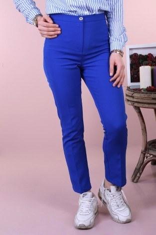 Kumaş pantolon 121212-5 saks - Thumbnail