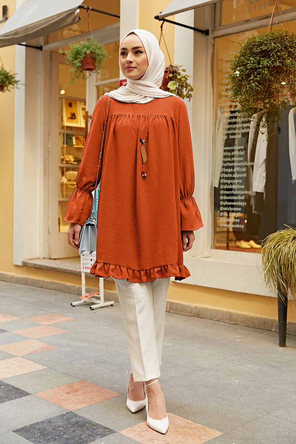 Lilyum Tunik 350TH-4067 Turuncu