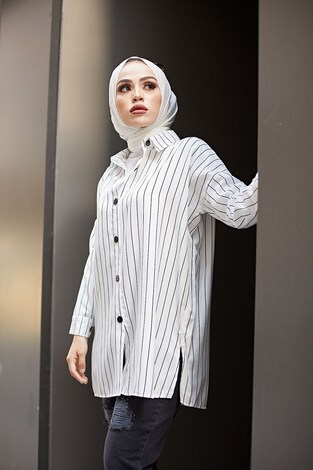 - Line Gömlek 8988-2 Beyaz (1)