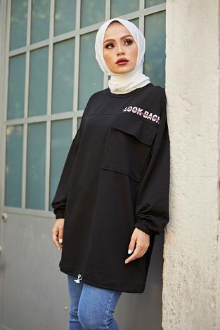 - Look Back Sweat Tunik 6893-1 Siyah (1)