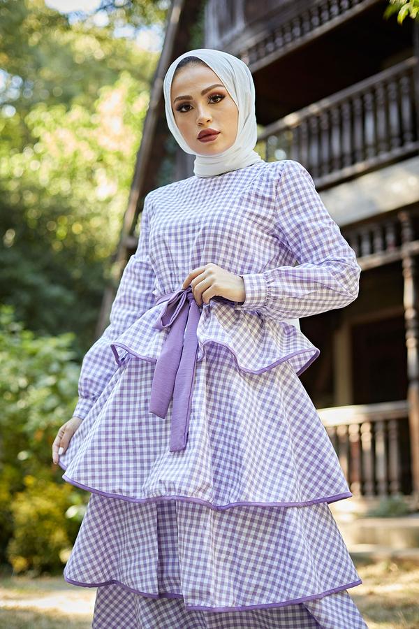 Loula Elbise 8902-2 Lila