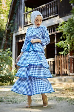 - Loula Elbise 8902-3 Mavi