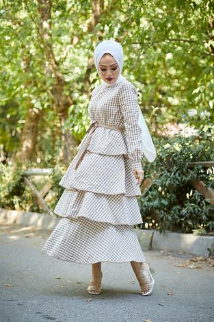 Loula Elbise 8902-4 Camel - Thumbnail