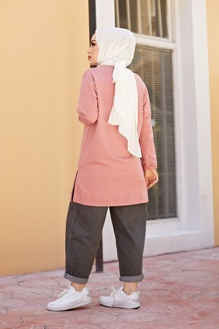 Lovers Lane Sweat-Tunik 9792-22 Gülk. - Thumbnail