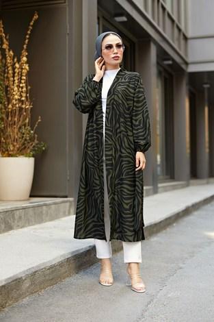- MDI Desenli Kimono 8889-10 Haki