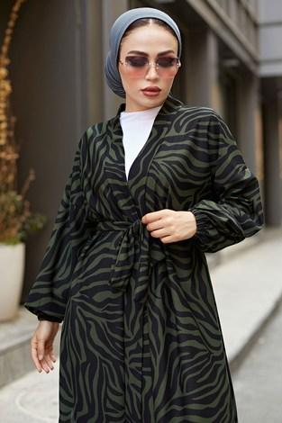 - MDI Desenli Kimono 8889-10 Haki (1)