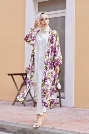 MDI Desenli Kimono 8889-13 - Thumbnail