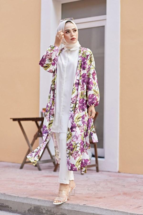 MDI Desenli Kimono 8889-13