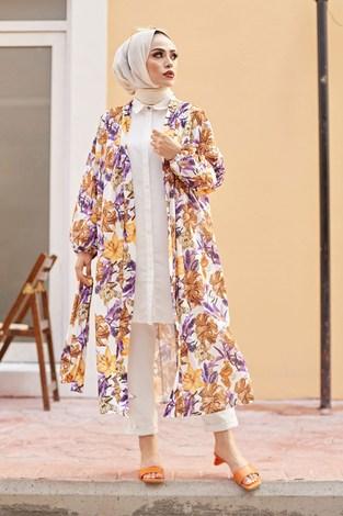 MDI Desenli Kimono 8889-14 - Thumbnail
