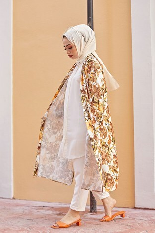 MDI Desenli Kimono 8889-15 - Thumbnail