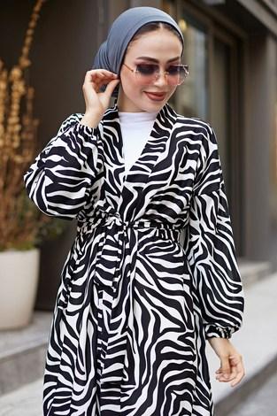 - MDI Desenli Kimono 8889-8 Beyaz (1)