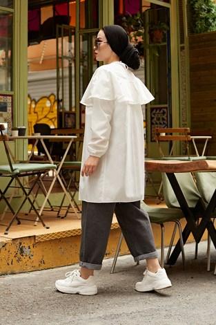 MDI Elizabeth Tunik 7687-2 İnci Beyazı - Thumbnail