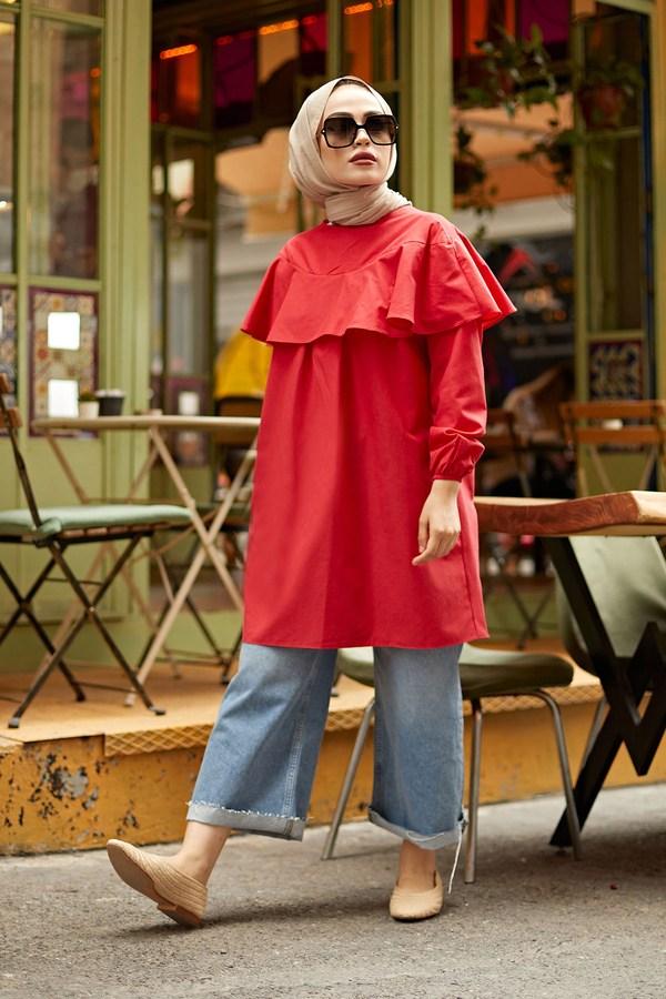 MDI Elizabeth Tunik 7687-3 Kırmızı