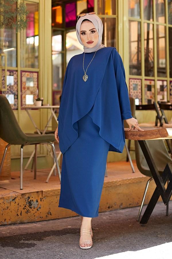 MDI Etek Ve Tunik İkili Kombin 5461-9 Mavi