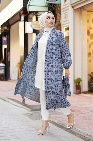- MDI Harfli Kimono 8946-11 Antrasit