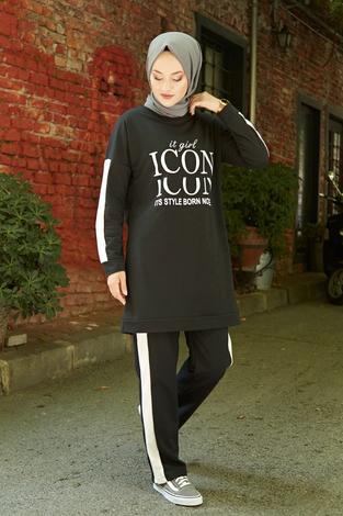 - AVEN Icon Spor Takım 1140-1 Siyah