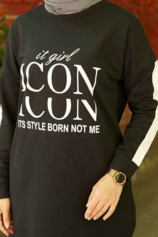 AVEN Icon Spor Takım 1140-1 Siyah