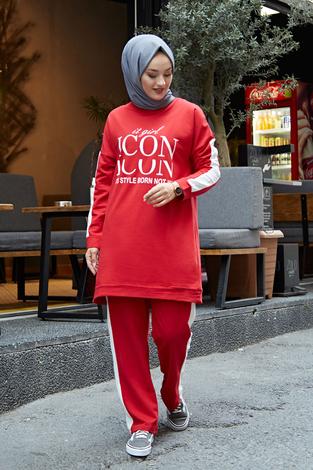 - AVEN Icon Spor Takım 1140-2 Kırmızı