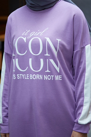 AVEN Icon Spor Takım 1140-6 Lila - Thumbnail