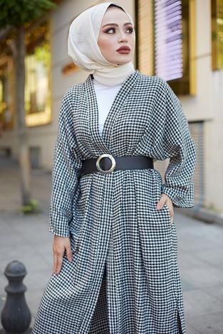 - MDI Kemerli Kap Kimono 10025-1 Beyaz (1)