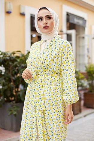 - MDI Lemon Kimono 8946-12 Sarı (1)