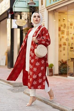 - MDI Papatyalı Kimono 8946-3 Kiremit