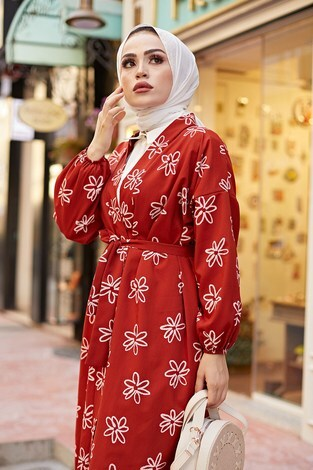 - MDI Papatyalı Kimono 8946-3 Kiremit (1)