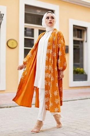 - MDI Papatyalı Kimono 8946-4 Hardal