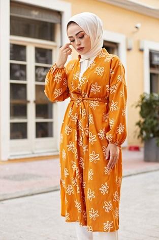 - MDI Papatyalı Kimono 8946-4 Hardal (1)