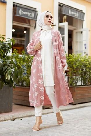 - MDI Papatyalı Kimono 8946-5 Pudra