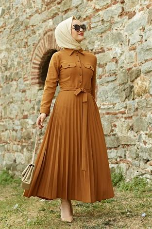 - MDI Piliseli Elbise 21515-4 Hardal