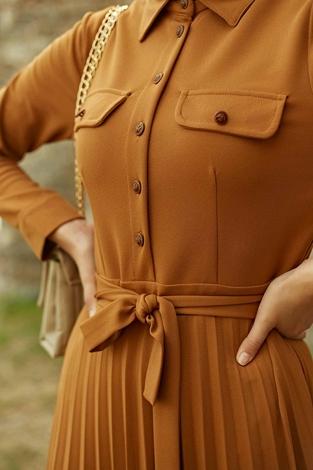 - MDI Piliseli Elbise 21515-4 Hardal (1)