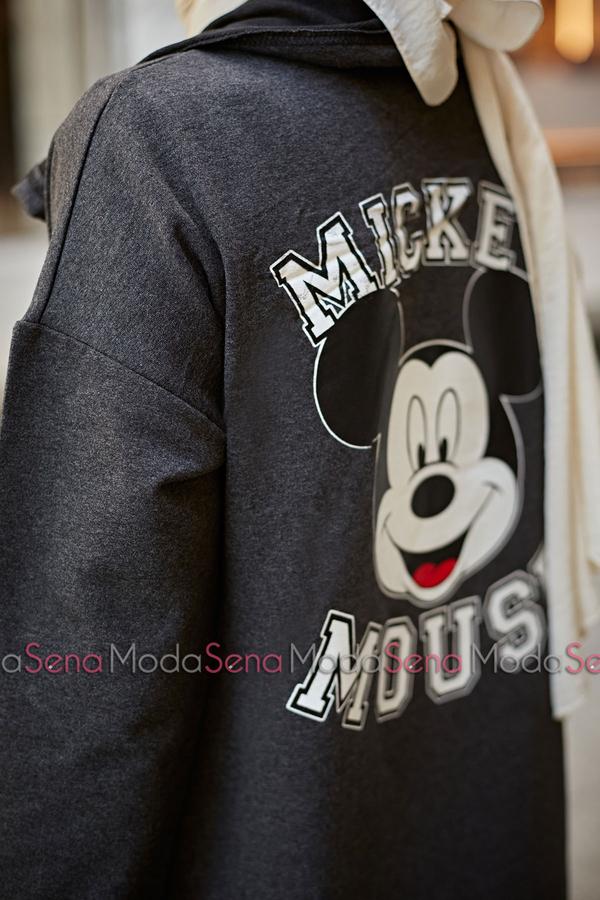 Mickey Mouse Baskılı Kap 8730-3 Antrasit