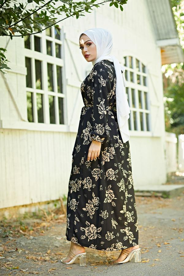 Mom Elbise 6034-1 Siyah