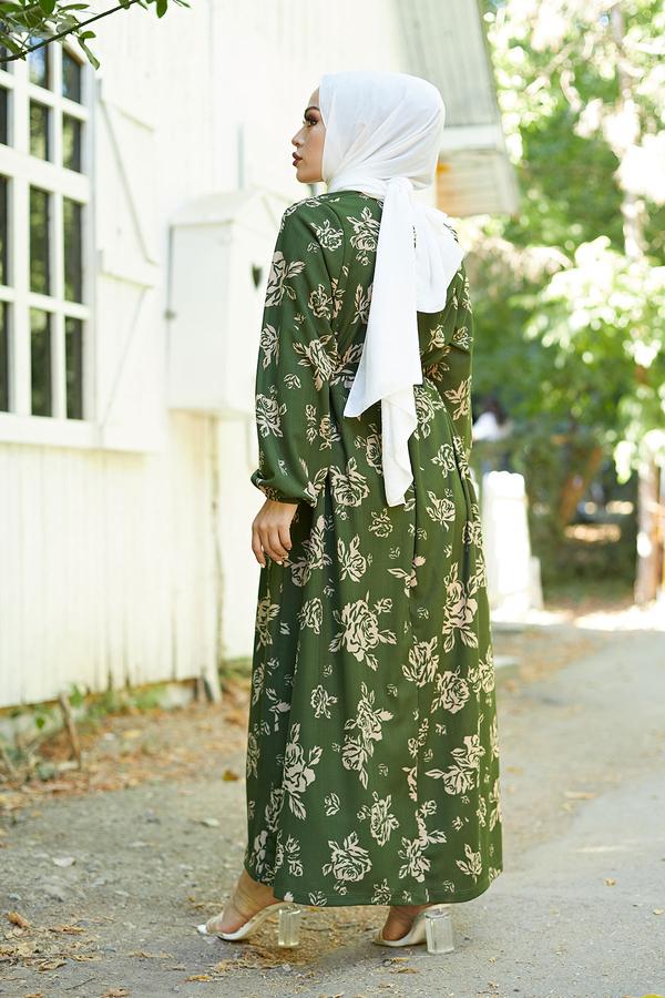 Mom Elbise 6034-5 Haki