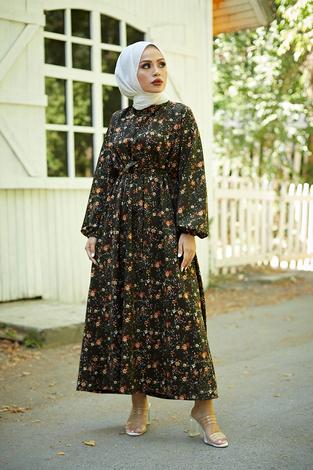- Mom Elbise 7094-3 Haki